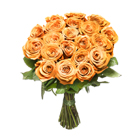 Orange short stem roses