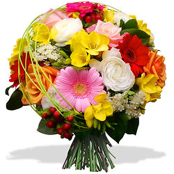 Radiant flowers bouquet