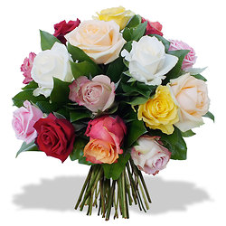 Opaline bouquet of roses