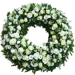 Funeral wreath 'Final respects'