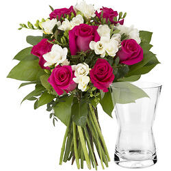 For her with a glass vase