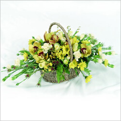 Bouquet Traditional Basket for funeral
