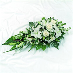 Bouquet White Funeral arrangement