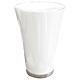 Bunte Vase - medium - weiß