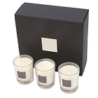 Three 70g scented candles