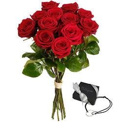 12 Grandes roses rouges