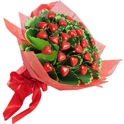 Red gourmet bouquet