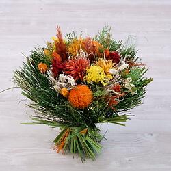 Orange Dried Flower Bouquet