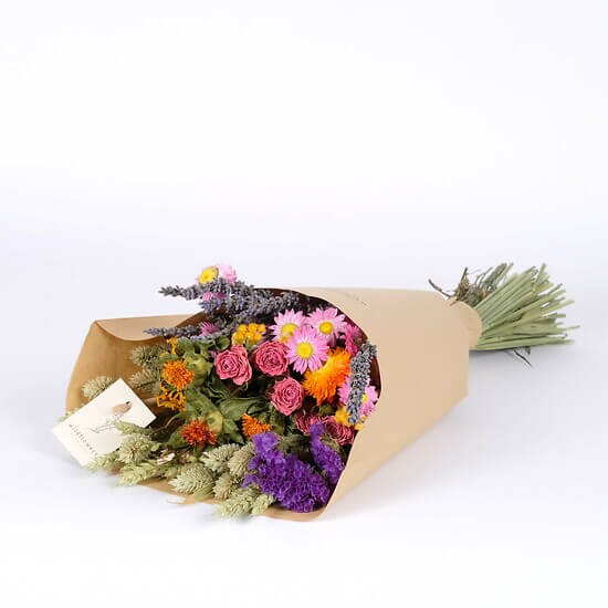 Multicolored dried flowers
